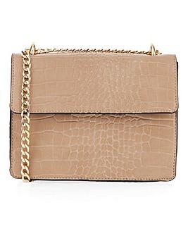 Glamorous Camel Croc Shoulder Bag