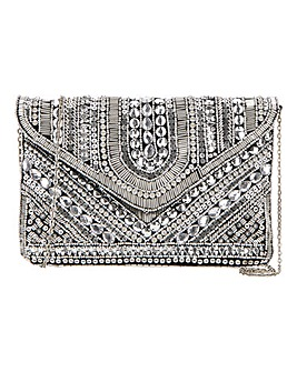 Glamorous Embellished Envelope Clutch