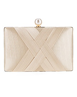 Glamorous Pleat Box Clutch