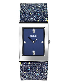 Seksy Blue Diamante Bracelet Watch