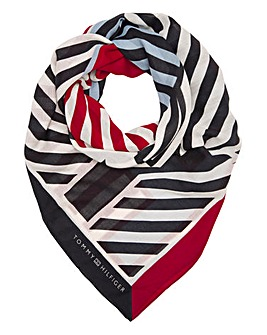 Tommy Hilfiger Striped Print Scarf