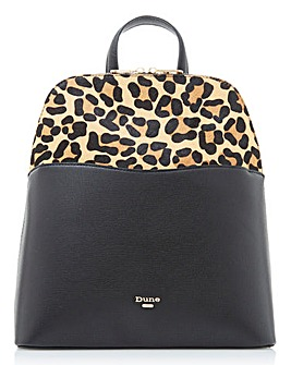 Dune Dovalle Leopard & Black Backpack