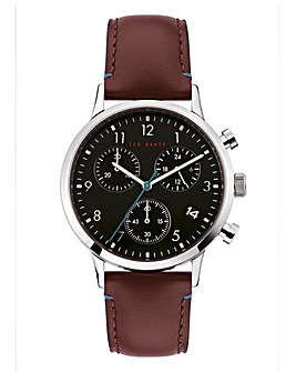 Ted Baker Cosmop Leather Strap Watch