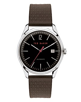 Ted Baker Daquir Leather Strap Watch