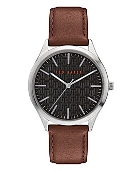 Ted Baker Manhatt Brown Leather Watch