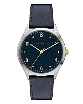 Ted Baker Manhatt Blue Leather Watch