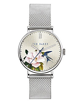 Ted Baker Phylipa Silver Flower Watch