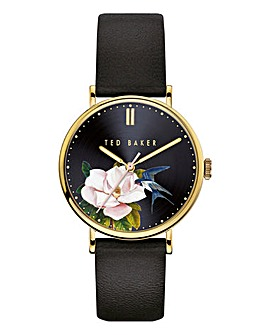 Ted Baker Phylipa Black Flower Watch