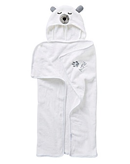 Personalised Soft Polar Bear Dog Towel