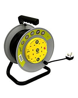 Rolson 4 Socket 25m 13A HD Reel