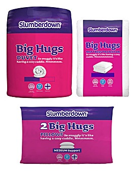 Slumberdown Big Hugs Bedding 10.5 Tog Duvet, Pillows and Mattress Protector Set