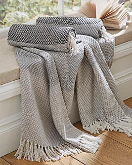 Tonal Stripe Cotton Throw Pack of 2