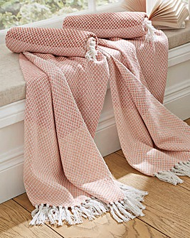 Tonal Stripe Cotton Throw Pack of 2