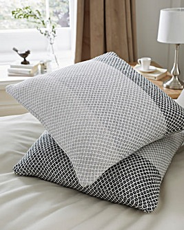 Tonal Stripe Cotton Cushion Covers Pk 2