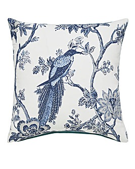 Porcelain Bird Cushion