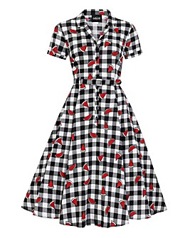 Collectif Caterina Gingham Swing Dress