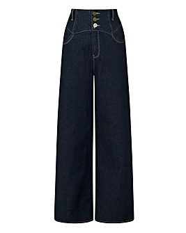 Collectif Rebel Kate Wide Leg Jeans