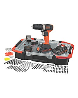 Black + Decker 18v Drill Driver Set