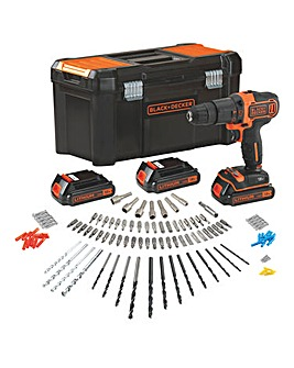 Black + Decker 18V Combi Hammer Drill Kit