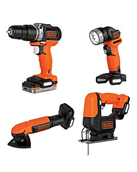 Black and Decker 12v USB 4 piece Kit
