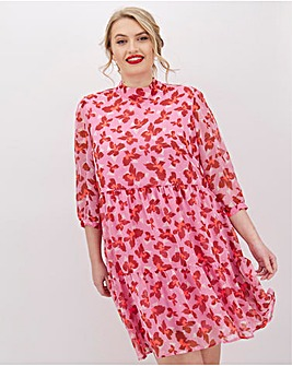 Vero Moda High Neck Swing Floral Dress