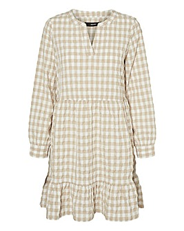 Vero Moda Short Check Smock Dress