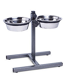 Stainless Steel Adjustable Dog Bowl