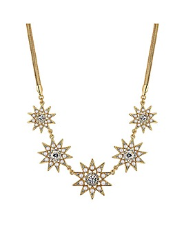 Mood Pearl And Crystal Star Necklace
