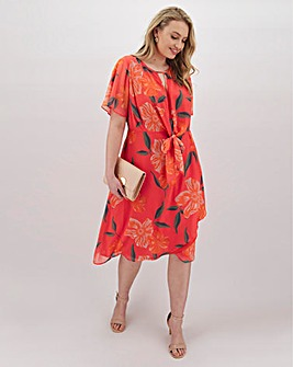 Lovedrobe Twist Knot Front Wrap Dress