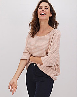 Apricot Textured Knit Top