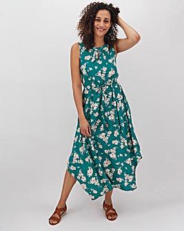 Apricot Maxi Printed Dress