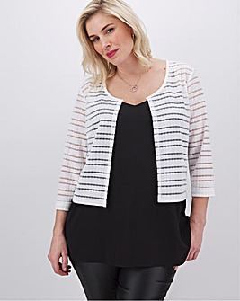 Apricot Stripe Shrug