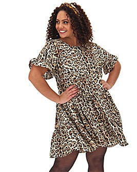 AX Paris Leopard Print Tiered Dress