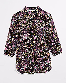 Oasis Smudge Ditsy Balloon Sleeve Shirt