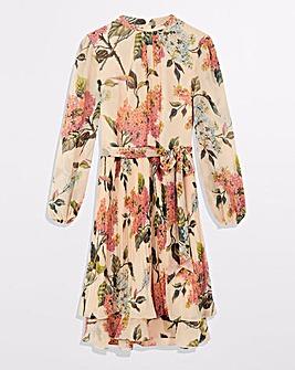 Oasis Floral Pleated Skater Dress