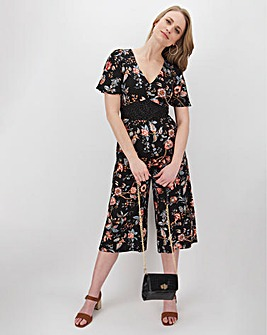 Oasis Balanese Patched Viscose Jumpsuit