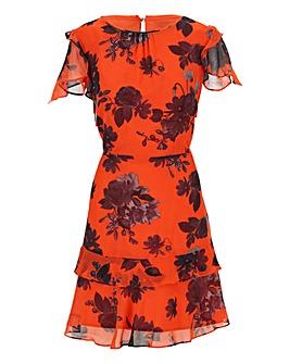 Oasis Floral Print Skater Dress