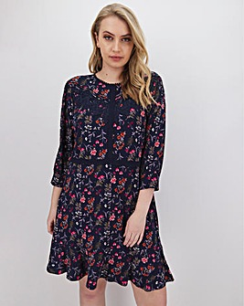 Oasis Lace Trim Skater Dress