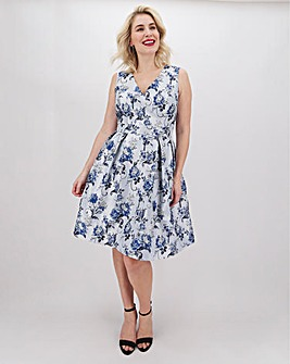 Chi Chi London Floral Jacquard Dress