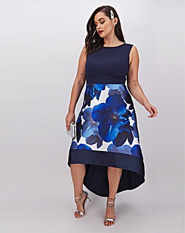 Chi Chi London Dip Hem Floral Dress