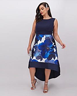 Chi Chi London Dip Hem Floral Dress