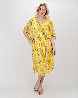 Lovedrobe Floral Cape Sleeve Dress