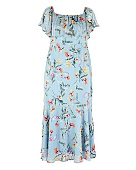 LoLovedrobe Floral Bardot Dress