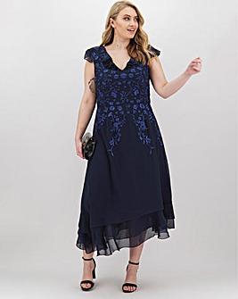Lovedrobe Embroidered Flutter Dress
