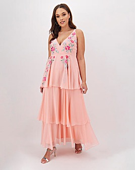 Lovedrobe Tiered Embroidered Cami Dress