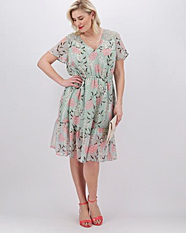 Lovedrobe Tiered Floral Dress