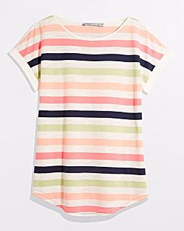 Oasis Vera Rainbow Stripe T-Shirt