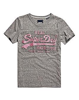 Superdry Vintage Logo Glitter T-Shirt