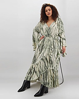 Band of Gypsies Tie Dye Wrap Maxi Dress