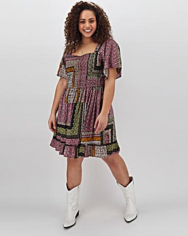 Band Of Gypsies Square Neck Mini Dress